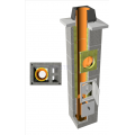 TONAtec ISO 1-kanalo su 2 ventiliacijomis keramikiniai kaminai