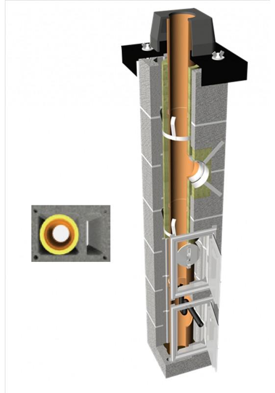 TONAtec PLUS 1-kanalo su ventiliacija keramikiniai kaminai