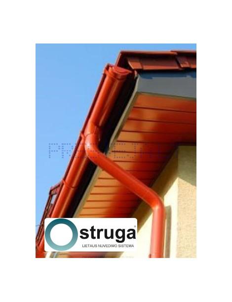 STRUGA plieninė lietaus nuvedimo sistema 125/90