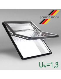Roto Designo R7 medinis stoglangis su pakelta atidarymo ašimi