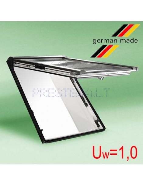 Roto Designo R8 medinis PANORAMINIS atverčiamasis langas su pakelta atidarymo ašimi