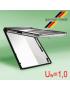 Roto Designo R8 PVC PANORAMINIS atverčiamasis langas su pakelta atidarymo ašimi