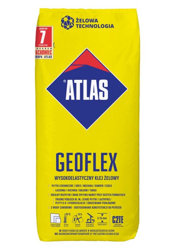 ATLAS GEOFLEX - ypač elastingi geliniai klijai 2–15 mm, 25 kg