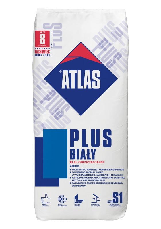ATLAS PLUS balti, 25 kg, plytelių klijai