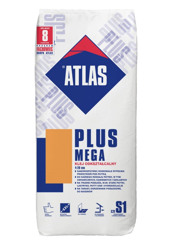 ATLAS MEGA PLUS, 25 kg, plytelių klijai