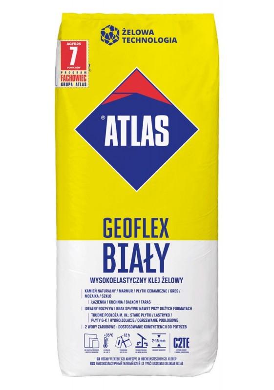 ATLAS ULTRA GEOFLEX BALTI - ypač elastingi geliniai klijai 2–15 mm, 25 kg
