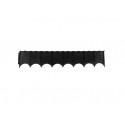 Vejos atitvaras PLASTBORT 60 juodas, 600x120 mm
