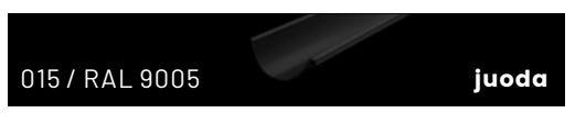RAL9005/015 (juoda)
