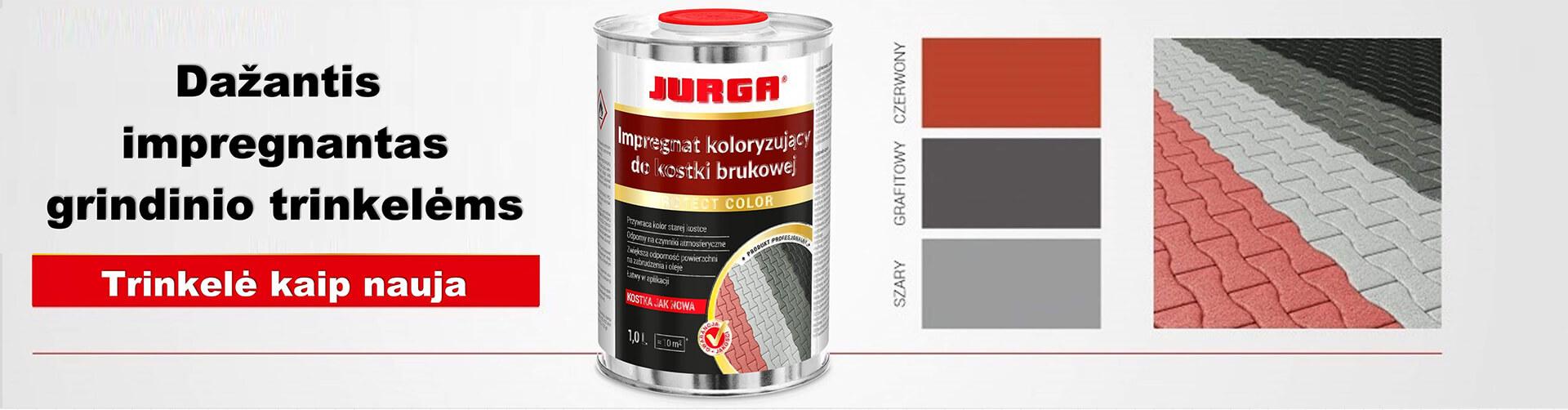 JURGA - SPALVOTAS TRINKELIŲ IMPREGNANTAS